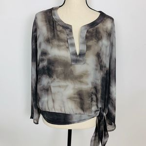 4/$25 | New York & Company Gray Tie Dye Blouse XL